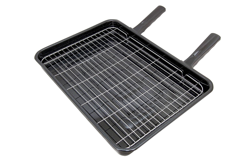 Spares4appliances - Vassoio con griglia da forno universale, con 2 manici. dimensioni: 415 x 295 mm Onapplianceparts BL1464#1