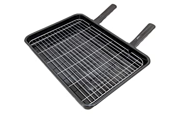 Spares4appliances - Bandeja universal con parrilla para horno (42 x 32 cm, con 2