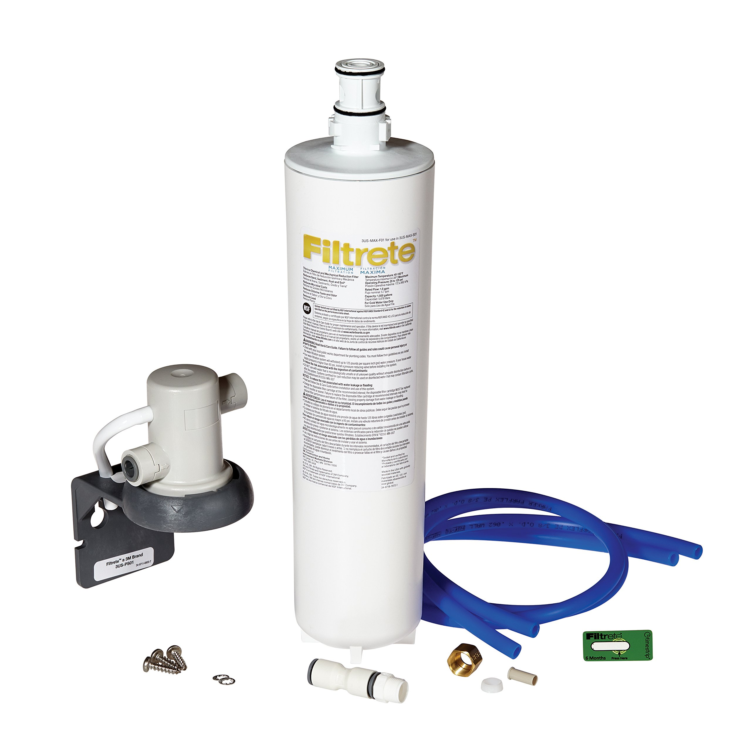 Filtrete Maximum Under Sink Water Filtration System, Easy to Install, Reduces 99% Lead + Much More (3US-MAX-S01) by Filtrete
