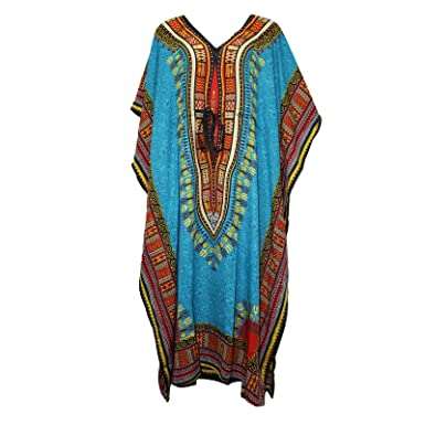 4fd2d7d87e Miss Trendy Women s Caftan Dress Kaftan Dashiki Hippie Boho Maxi Gown Beach  Cover Plus Size (