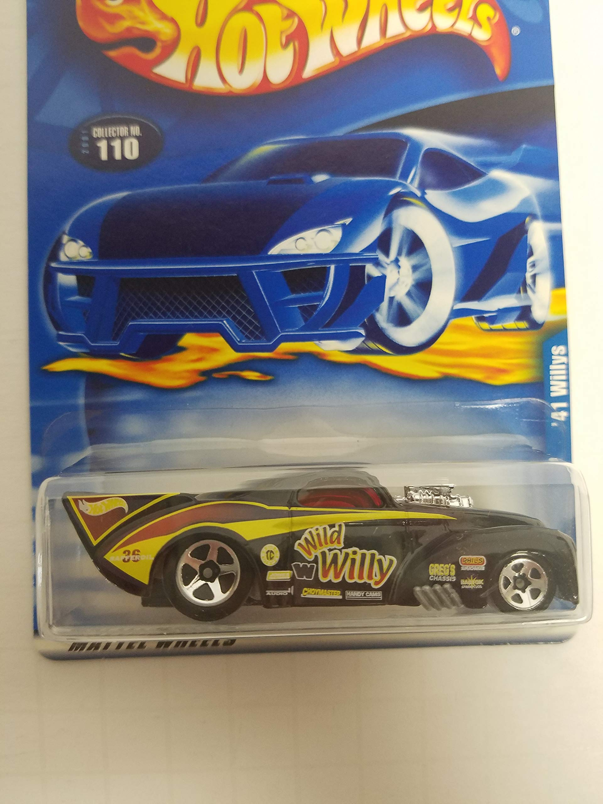 '41 Willys Hot Wheels 2001 diecast 1/64 scale car No. 110