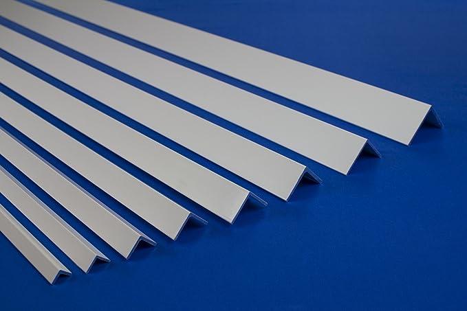 Ma/ße:10x10mm F19 2 Meter PVC Winkelleiste Kunststoff Au/ßenecke sto/ßfest diverse Gr/ö/ßen F Profile