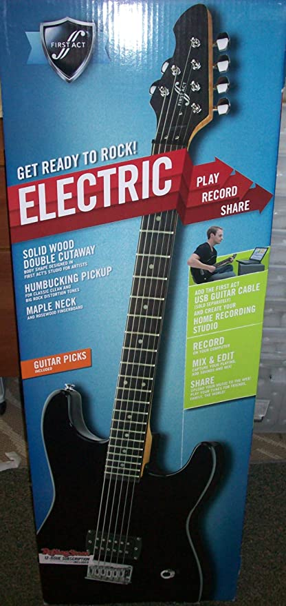 FIRST ACT ELECTRIC GUITAR PACK BLACK
