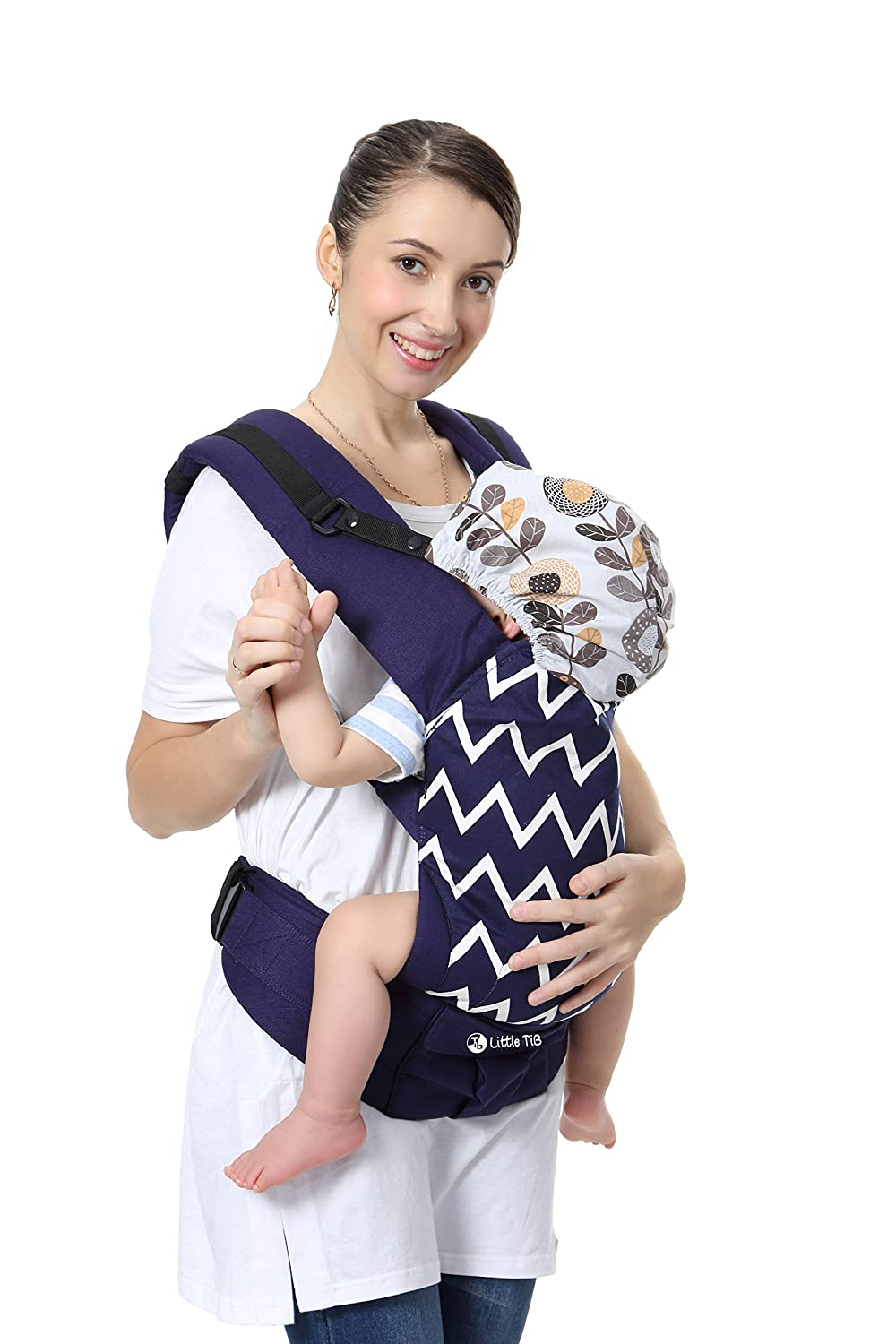 Little TiB Ergonomic Baby Carrier, 360 All Position, wrap, Backpack for Men and Women, Organic, All Season, Carriers for Newborn, Kids with Cover Accessories