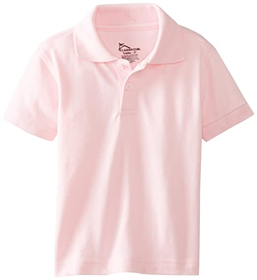3f7232449 Amazon.com: Classroom Little Boys' Toddler Short Sleeve Pique Polo ...