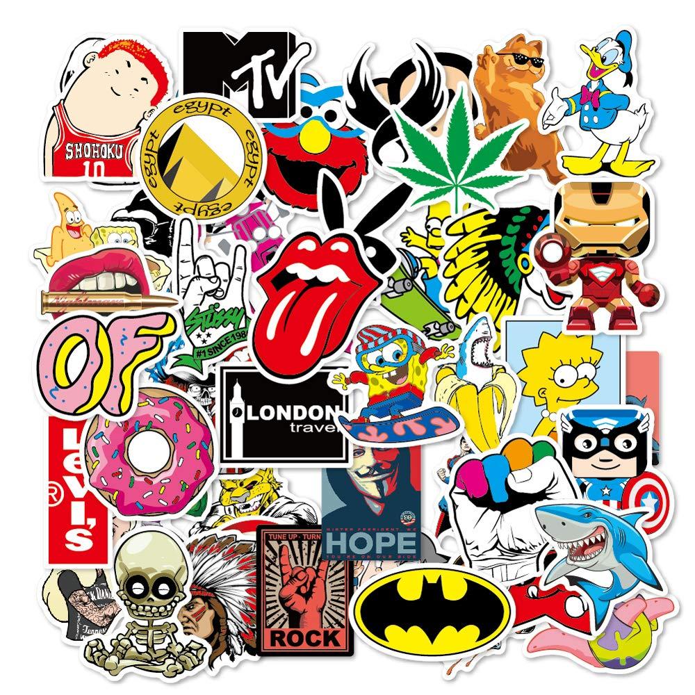 Stickers Calcos 100 un. Surtidos Origen U.S.A. (7T1L45TM)