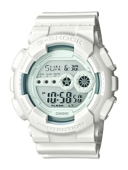 Casio GD-100WW-7ER - Reloj digital de cuarzo para hombre con correa de resina, color blanco: Amazon.es: Relojes