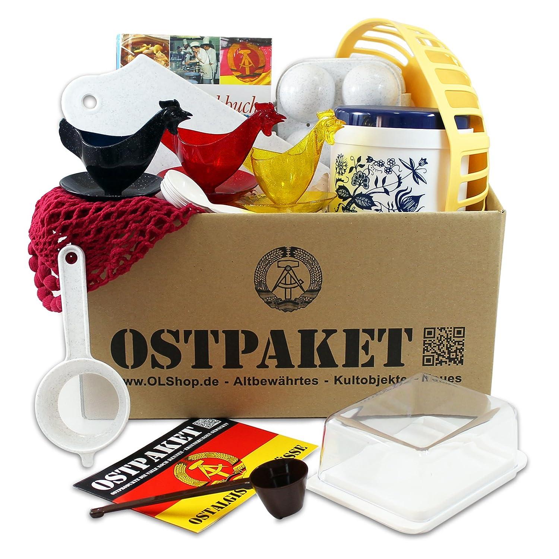 Ostpaket mit 13 typischen Kultprodukten aus der DDR