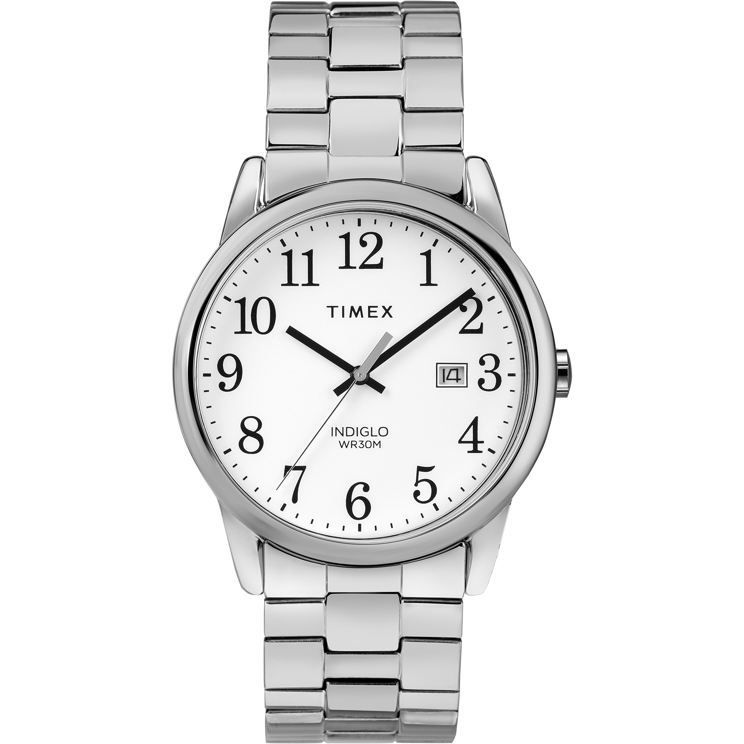 Timex Men's TW2R58400 Easy Reader 38mm Silver-Tone Stainless Steel Expansion Band Watch by Timex (Image #1)