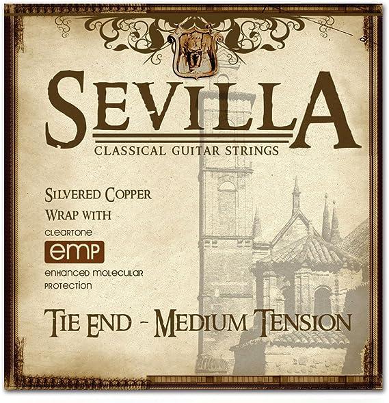 Sevilla Treated Classical Guitar Strings (MEDIUM TENSION TIE END)