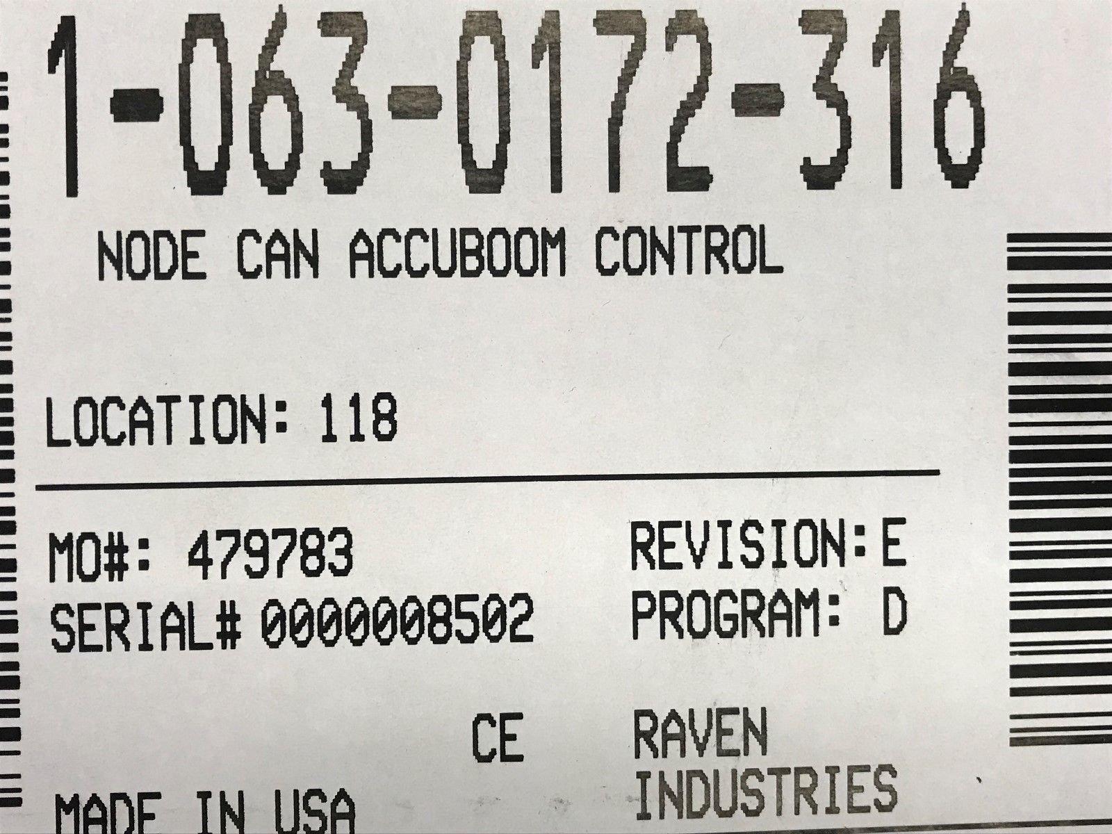 063-0172-316 Raven Node Can Accuboom Control