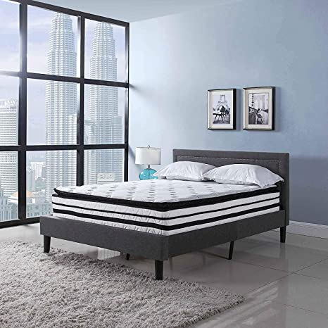 new product 0d2e1 c22ff Swiss Ortho Sleep 13 inch Hybrid Innerspring and Memory Foam Mattress with  Pillow Top (Full)