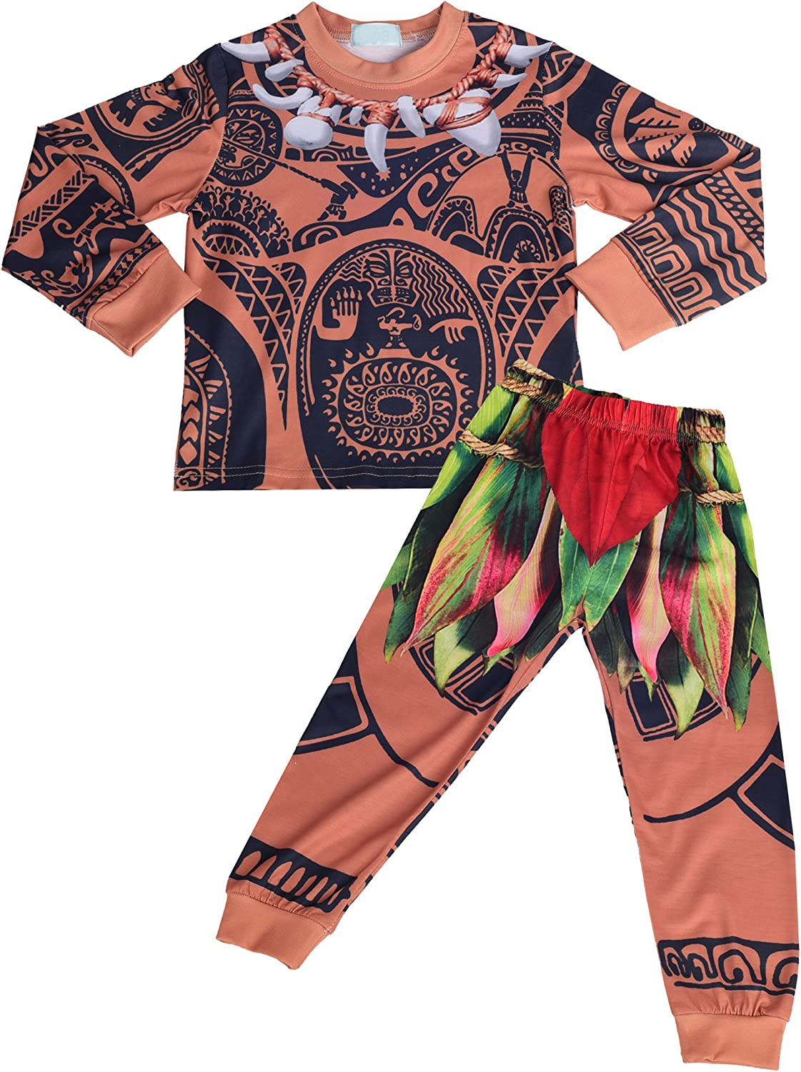 Dressy Daisy Boys Maui Pajamas Halloween Dress Up Costumes Fancy Party Outfit