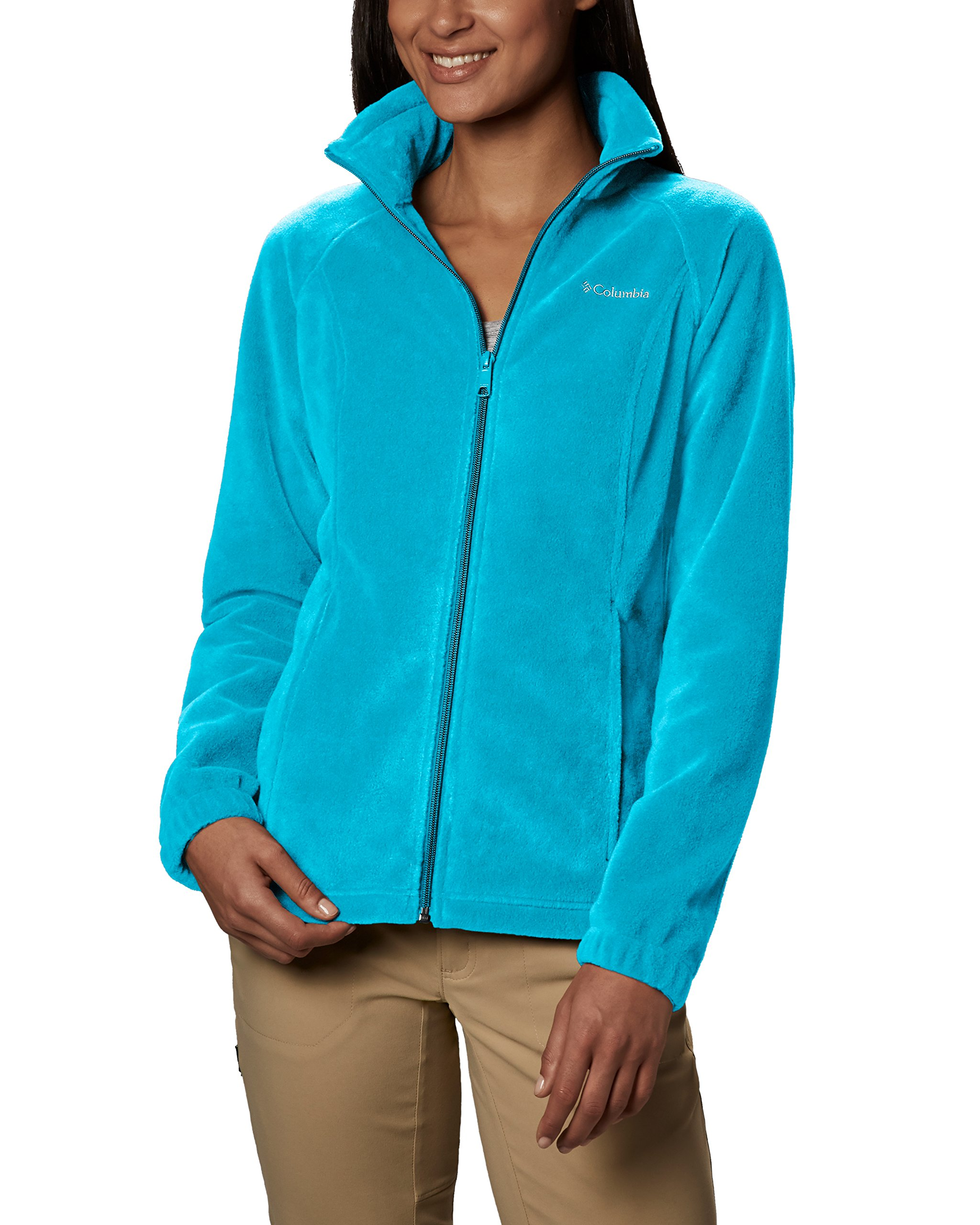 Columbia Women's Benton Springs Full Zip Jacket, Soft Fleece with Classic Fit, Atoll, Small by Columbia