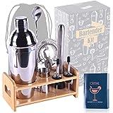 MAISON HUIS Professional Bartender Kit 8 Pcs, Bartending Kit Stainless Steel Drink Shakers,Premium Bar Tool Set with Stylish