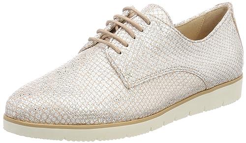 23608, Zapatos de Cordones Oxford para Mujer, Rosa (Rose Structure 540), 41 EU Caprice
