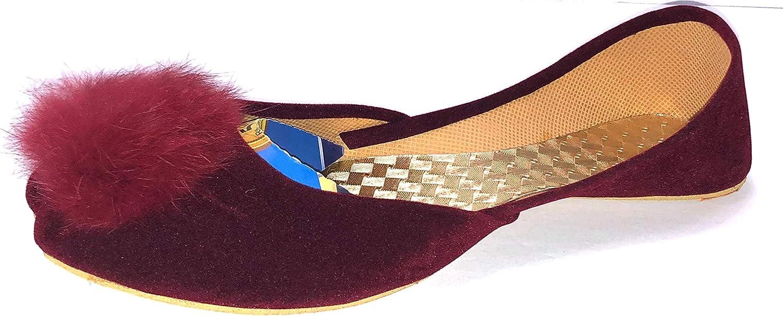 AK CLOTHING HUB Khussa Shoes for Women Maroon