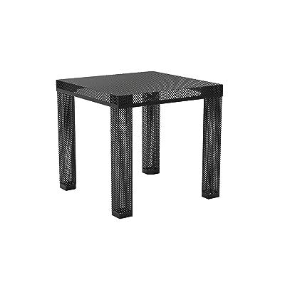 Novogratz Iconic Modern Metal End Table, Black: Kitchen & Dining