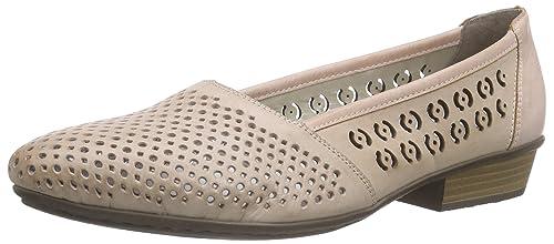58255 Rieker Amazon es Toe Women Closed Zapatos Bailarinas Mujer d1qU1Br