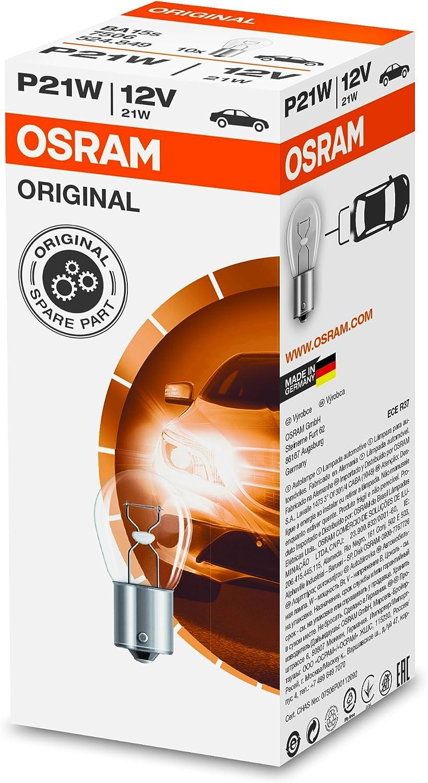 Osram Original Blinklichtlampe P21w 7506 12v 10er Faltschachtel Autolampe Richtungsanzeiger Signallampe Leuchte Birne Auto
