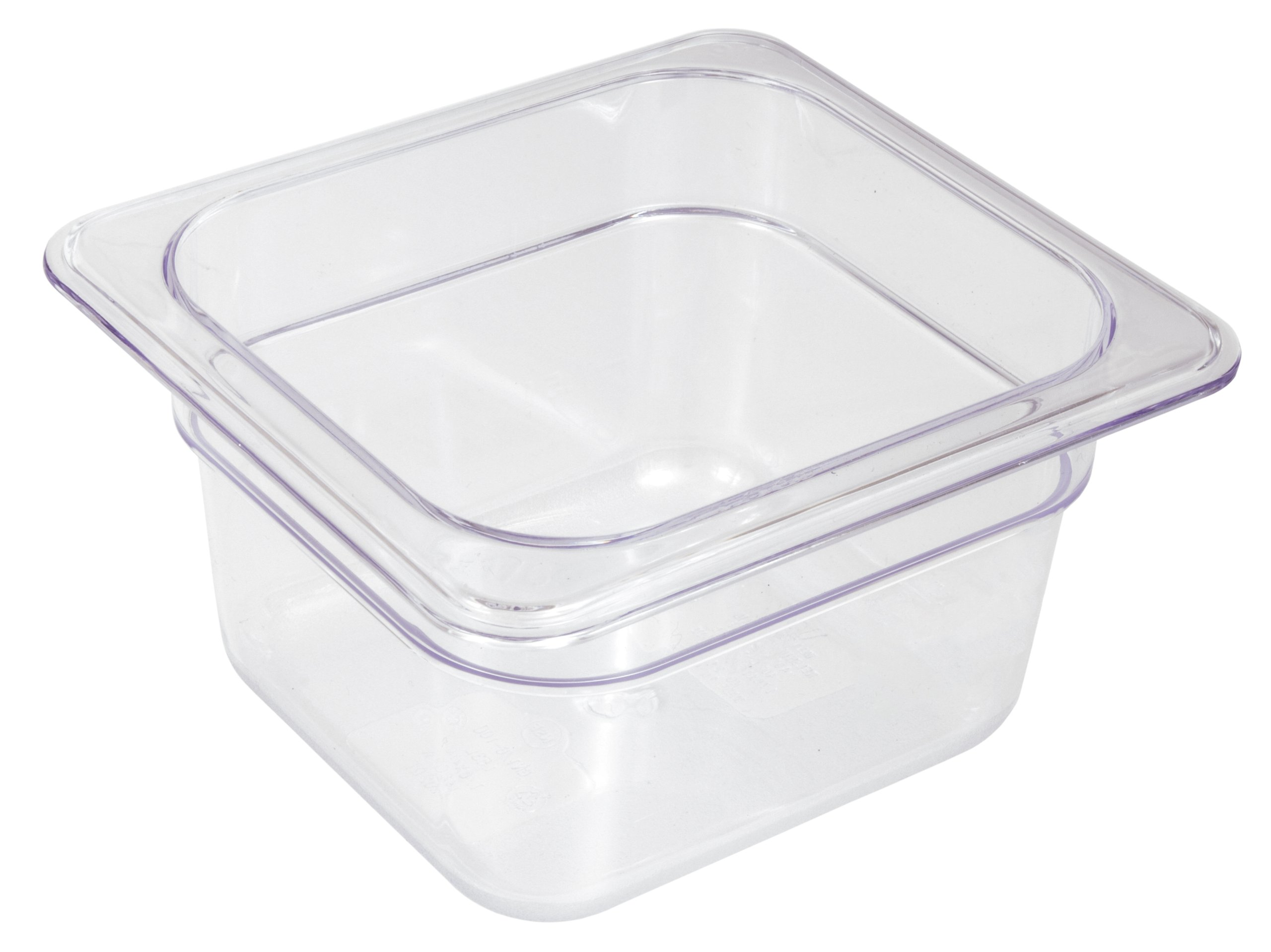 Crestware Commercial Grade, FP64, Polycarbonate Food Pan Sixth Size 4'', Set of 6