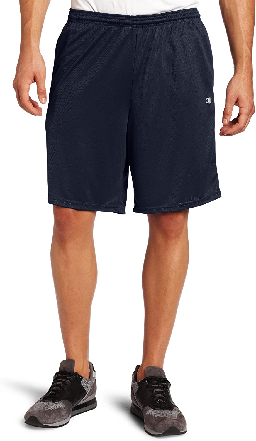 """Champion Men/'s Gym Issue Shorts Workout w Pockets 9/"""" Inseam Double Dry Wicking"""