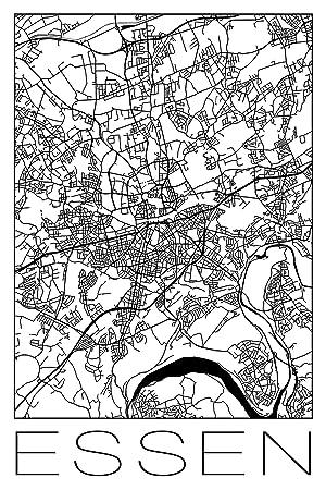 Stadt Essen Karte.Artland Qualitatsbilder I Leinwandbild Wandbild Grosse 20 X