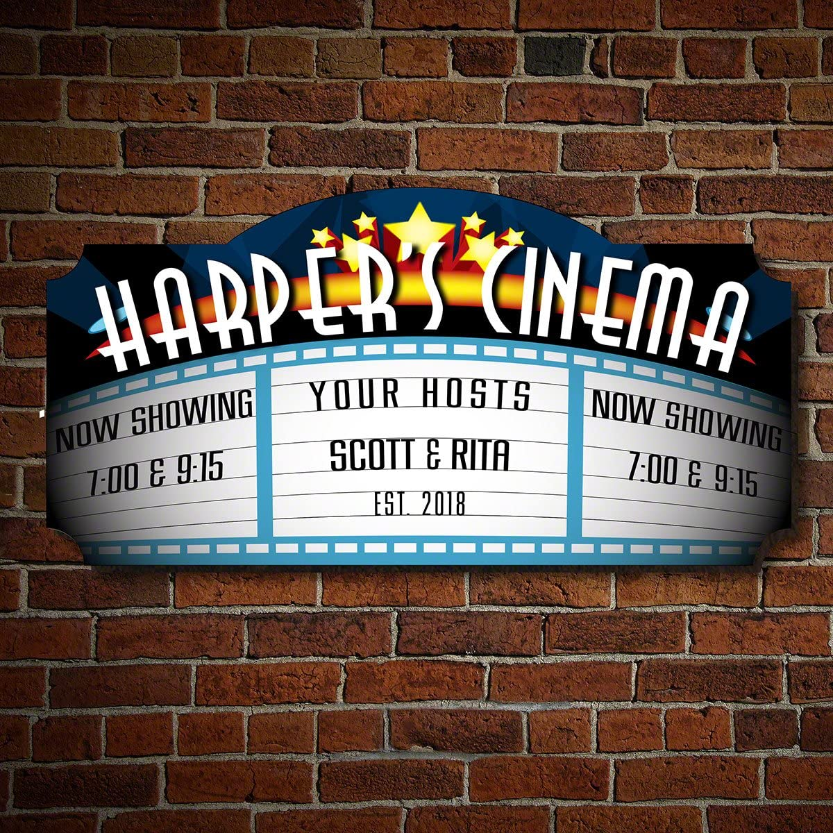 Blockbuster Custom Home Theater Sign by HomeWetBar - Perfect for Home Bars