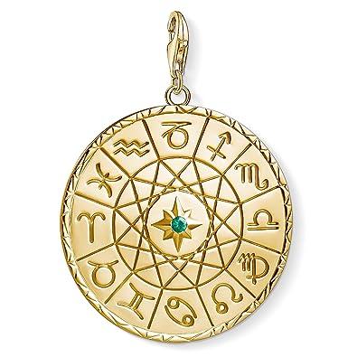 Thomas Sabo personalised Charm pendant disc yellow gold-coloured 1635-413-39 Thomas Sabo OBPej