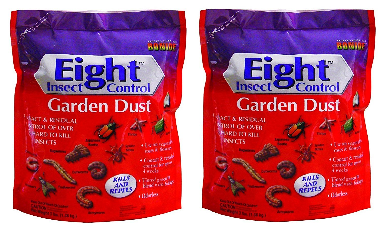 Bonide 78630 Eight Insect Control Garden Dust Pest Control, 3-Pounds, 2 Pack by Bonide