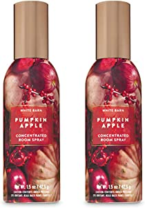 Bath and Body Works 2 Pack Pumpkin Apple Room Spray 1.5 Oz.