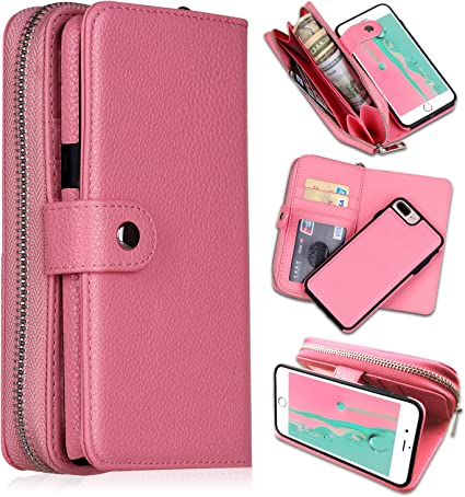 PU Leather Card Holder Comb Case Suede Inner Surface Business Bag