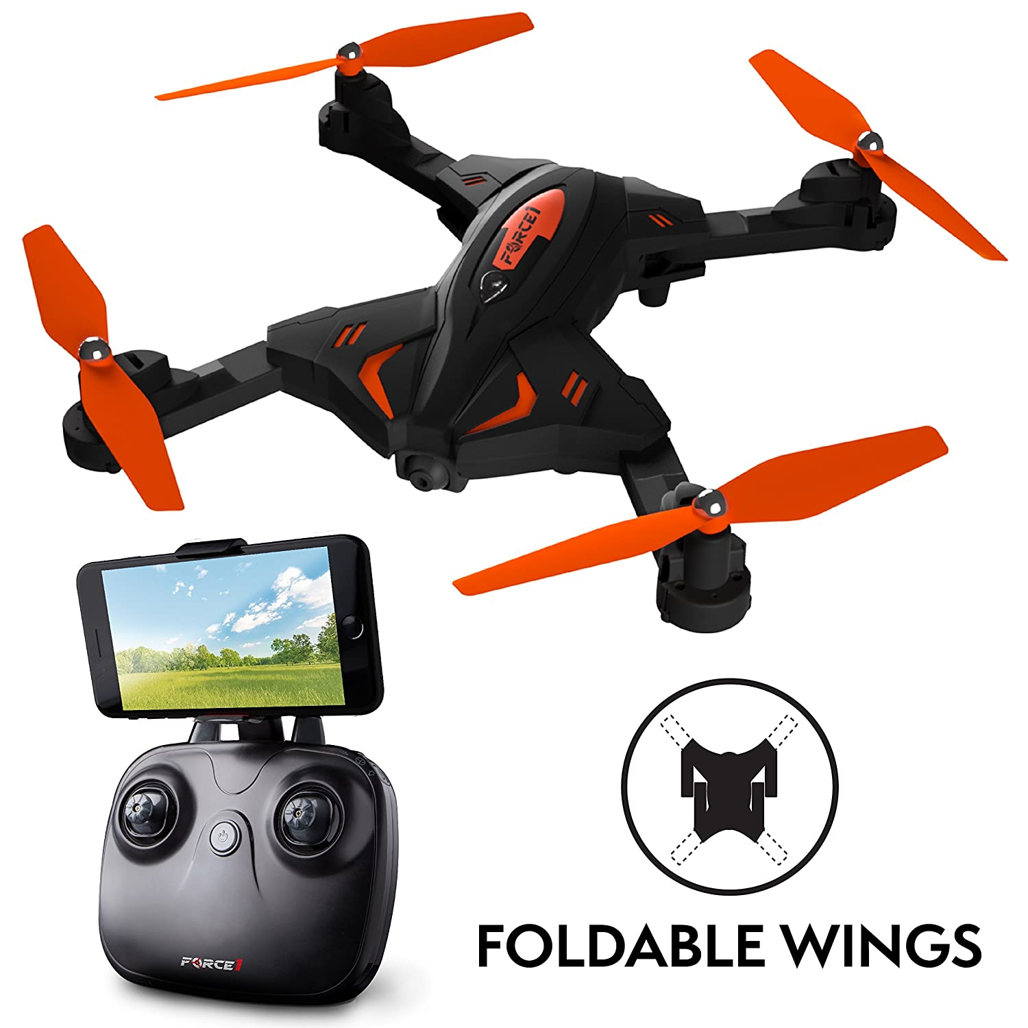 Force1 Foldable Drone with Camera Live Video