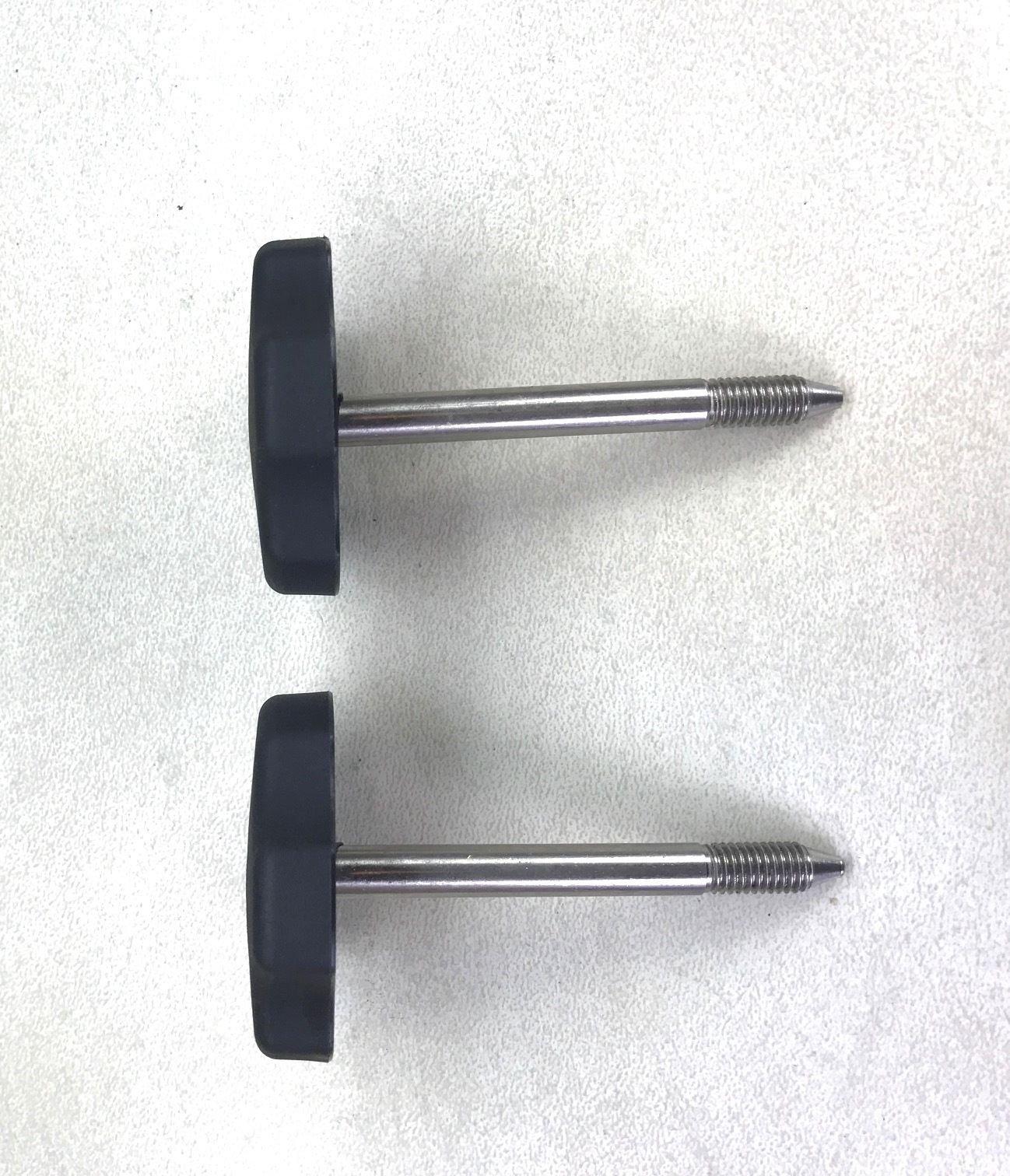 2 ea 2007 to 2017 / Jeep Wrangler TJ / Soft Top Door Surround Knob With Pin(set)