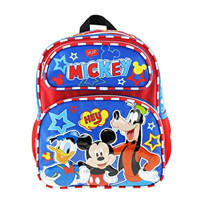 "Mickey Mouse 12"" Toddler Size Backpack - Hey Friends A17269 