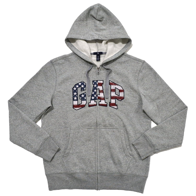 GAP Mens Fleece Arch Logo Zip Up Hoodie
