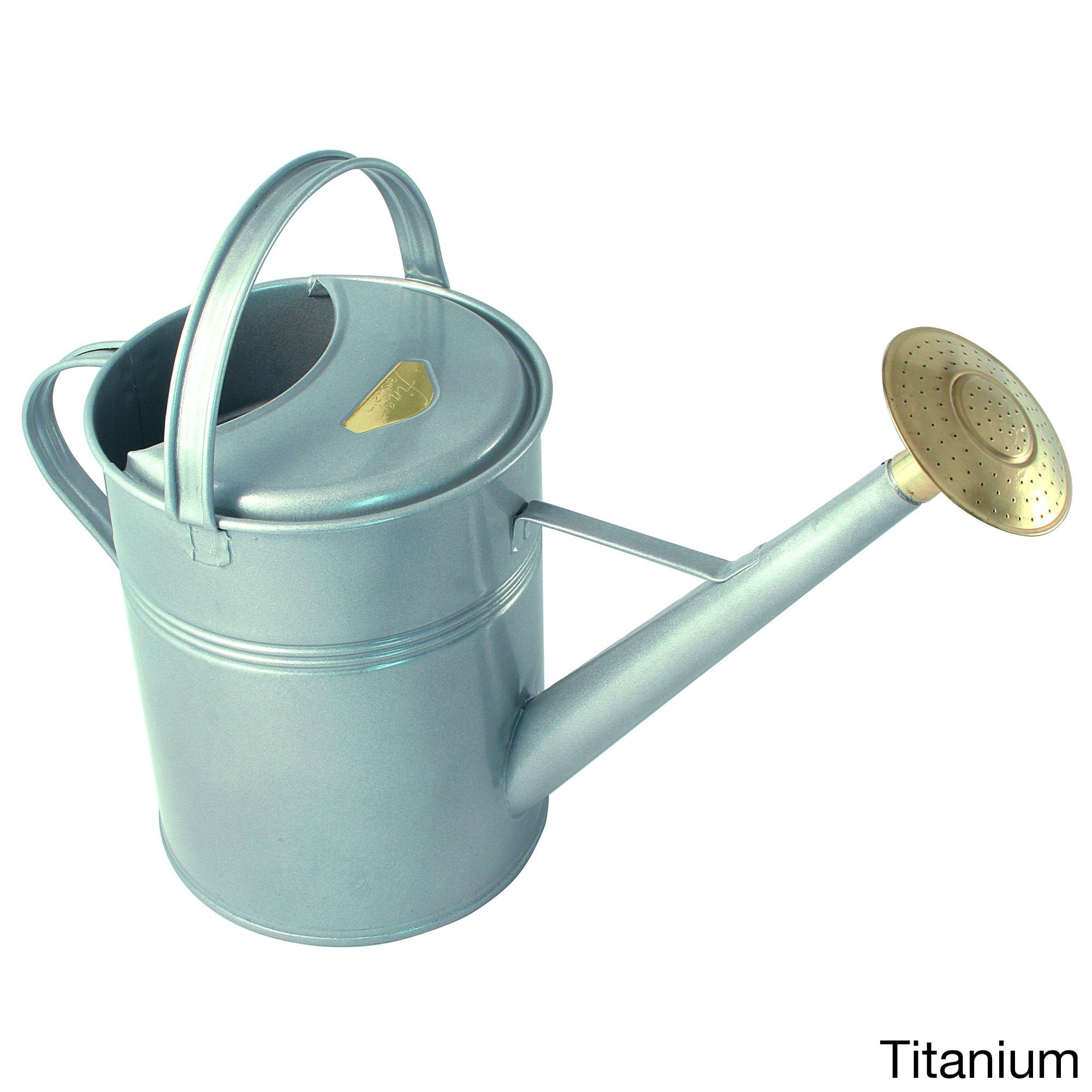 Haws English Garden Traditional 'Peter Rabbit' 2.3-gallon Outdoor Metal Watering Can Grey