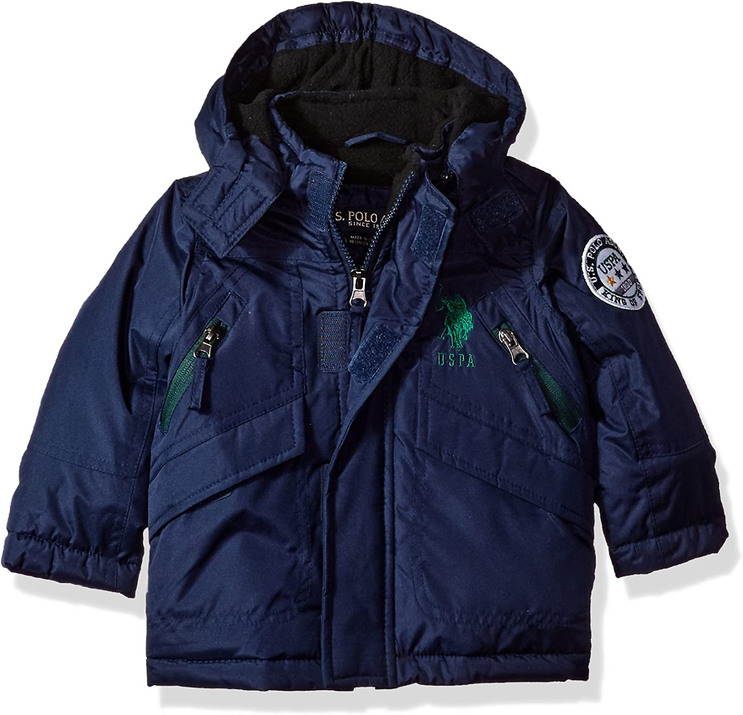 More Styles Available 24M US Polo Association Baby Boys Outerwear Jacket UC09-Navy