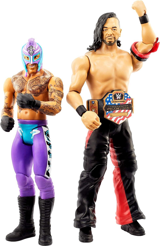 WWE Pack de 2 Luchadores Shinsuke Nakamura vs Rey Mysterio, Figuras de Acción (Mattel GLB21)