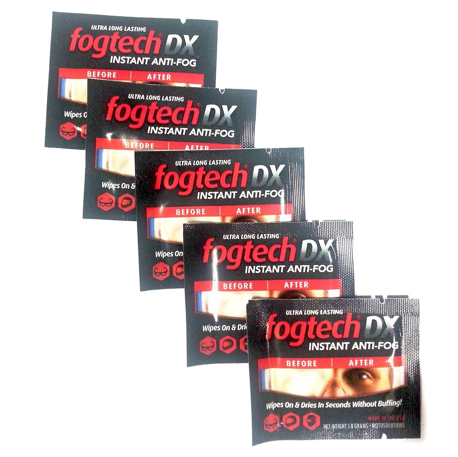 FogTech MotoSolutions DX Anti-Fog Wipes   by FogTech