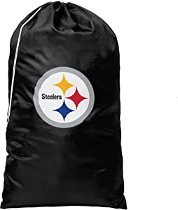 Forever Collectibles NFL Football Teams Logo Sports Fans Laundry Clothes Gym Bags (Pittsburgh Steelers)