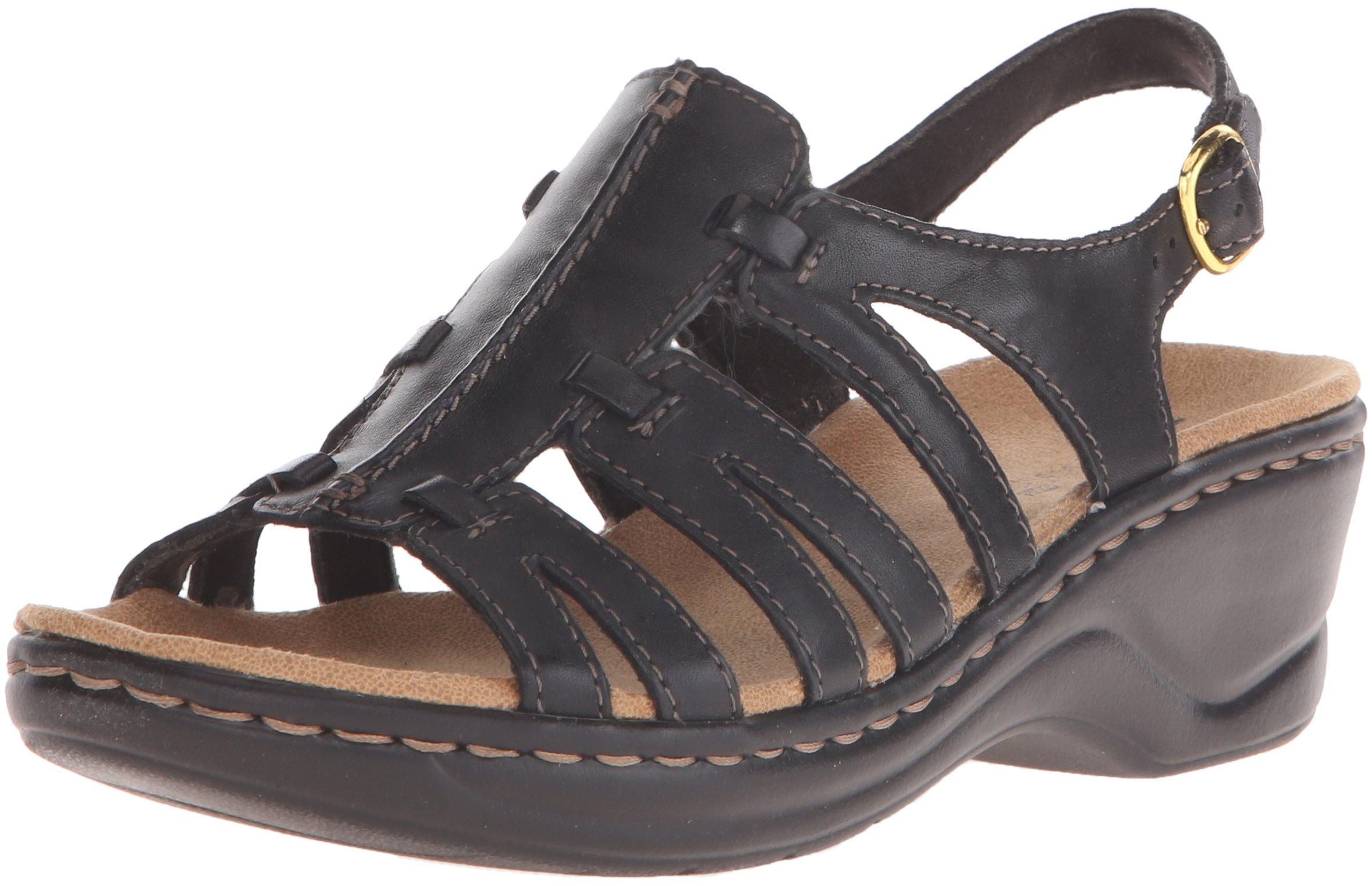 CLARKS Women's Lexi Marigold Q Black Leather 7 B - Medium