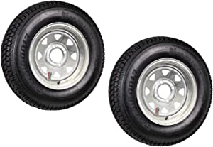 2-Pack Trailer Tire On Rim ST175/80D13 13 in. LRC 4 Lug Galvanized Spoke Wheel