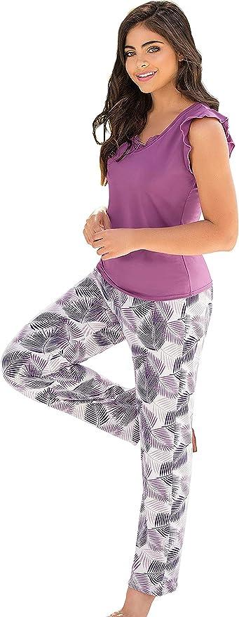 Lunachi - Conjunto de pijamas de manga corta y pantalones de ...
