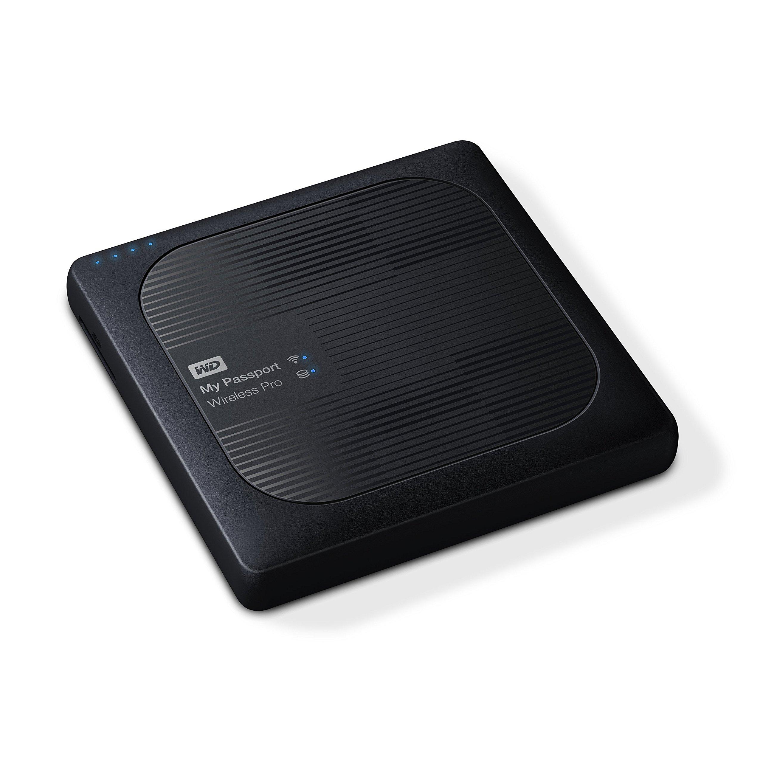 Disco duro externo portátil WD 2TB My Passport Wireless Pro - WiFi USB 3.0 - WDBP2P0020BBK-NESN