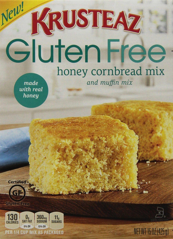 Krusteaz Gluten Free Honey Cornbread Mix, 15 OZ Box(Pack of 6) by Krusteaz