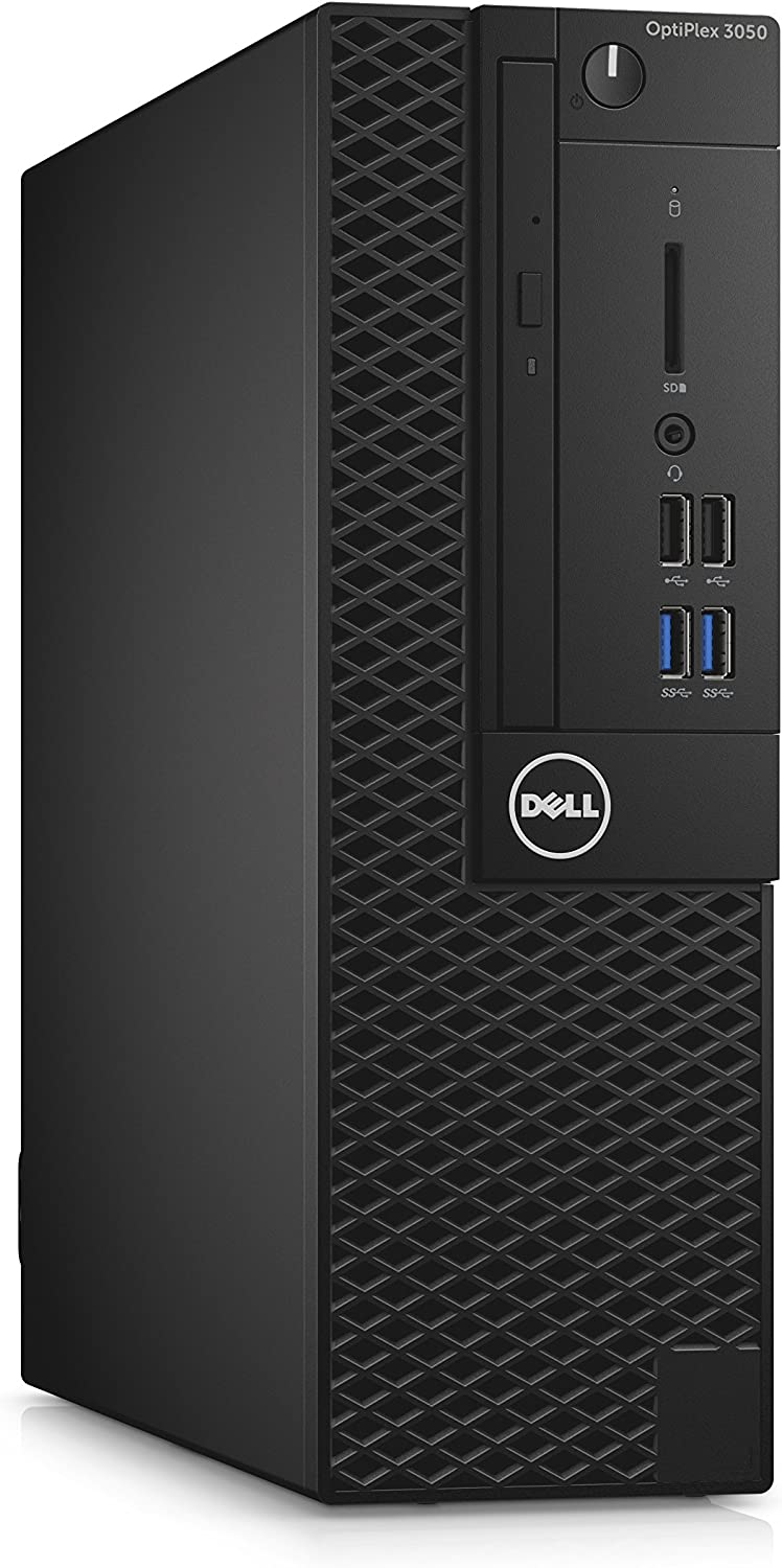 Dell 6Y9TM OptiPlex 3050 Small Form Factor Desktop Computer, Intel Core i5-7500, 8GB DDR4, 500GB Hard Drive, Windows 10 Pro,Black