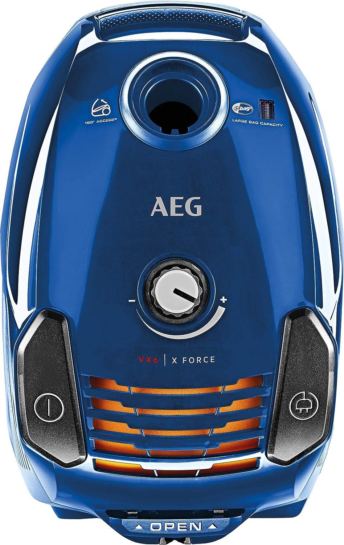 AEG VX6 Force Aspiradora con bolsa con cepillo parketto, color azul cielo + AEG GR201M Pack de bolsas para aspiradoras con bolsa AEG: Amazon.es: Hogar