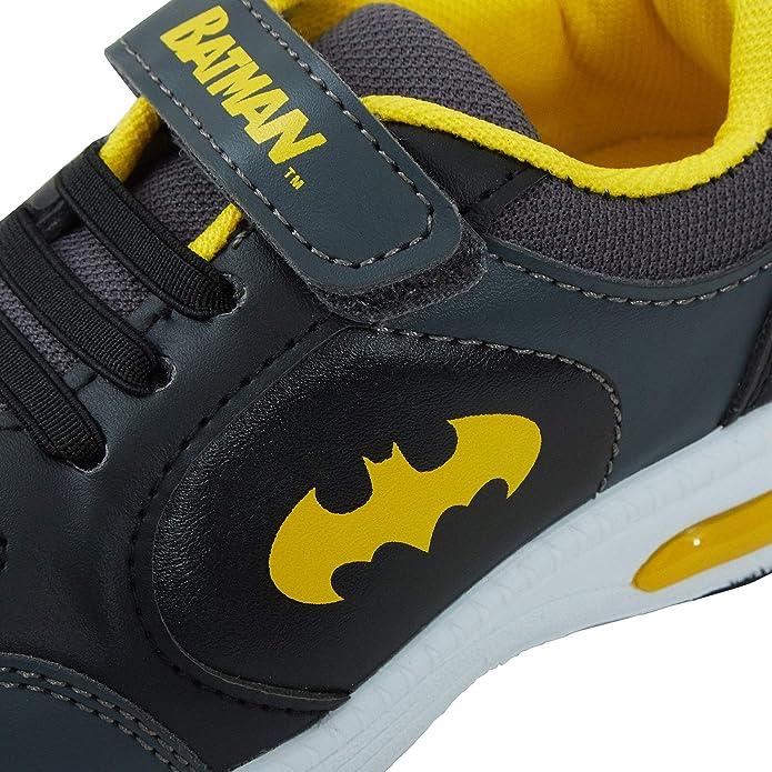 DC Comics Batman Light Up 2 Strap Trainers Black School Shoes
