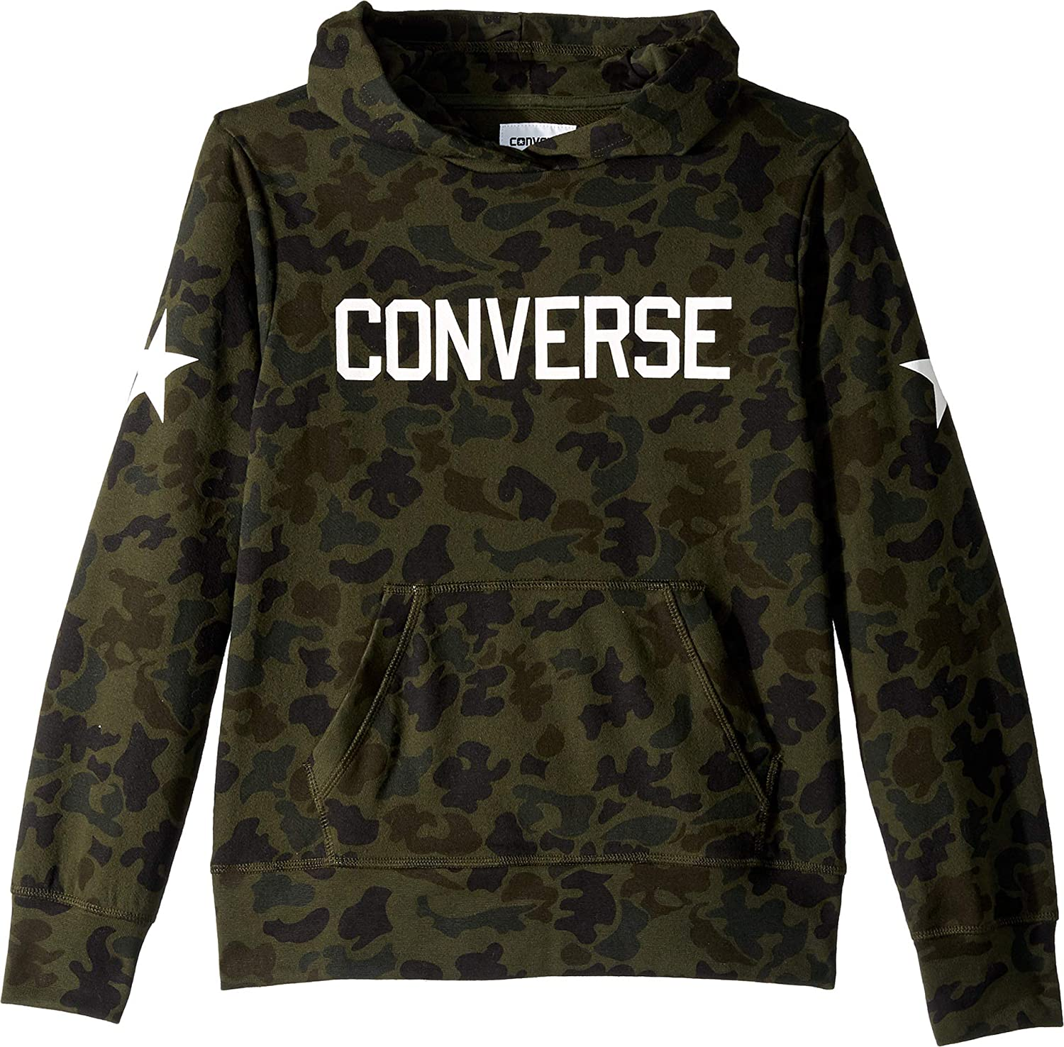 378db72e4ccf Amazon.com  Converse Kids Mens Heritage Camo Pullover Hoodie (Big Kids)   Clothing
